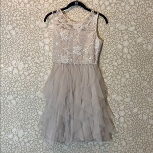 Rare Editions tulle and sequined lace dress